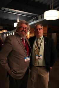 Arts Institute Director John Baldacchino (left) and Wisconsin Film Festival Coordinator Ben Reiser (right)