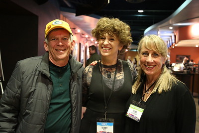 Volunteer Coordinator Terry Kerr (middle) and Venue Manager Jane Schroeder (right)