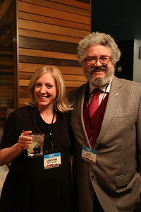 Associate Director for External Relations Christina Martin-Wright (left) and Arts Institute Director John Baldacchino (right)