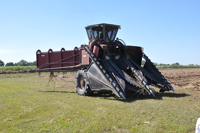 Sugarcane harvester in St. Martin Parish.