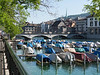 Boats on the Limmat River