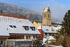23.01.2017 - Winter in Oberbuchsiten mit Blick auf den Dorfplatz und die katholische Kirche und das Restaurant Chutz © Patrick Lüthy/IMAGOpress.com