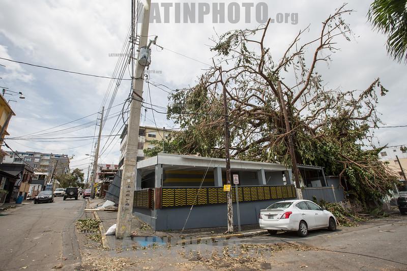 Puerto Rico : San Juan , PR. Canals street in Santurce neighborhood after hurricane Maria hit the island / Hurricane Maria slams Puerto Rico / Puerto Rico : Hurrikan Maria verwüstet Puerto Rico © Rob Zambrano/LATINPHOTO.org