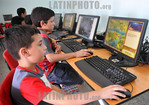 Cuba : Escuela especial rep�blica de panam� / Kuba : Unterricht f�r Kinder am Computer - PC - Ausbildung - Bildung - Computer - Bildschirm - Monotor - Tatatur � Rolando Montalv�n Mart� ...