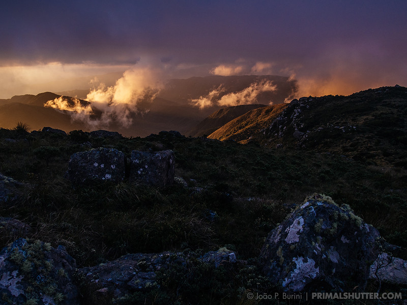 Sunset landscape in Itatiaia National Park