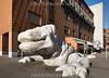 15.02.2017 weisse Drachenskulptur Skulptur aus weissem Stein an der Limmatstrasse 182 in 8005 Zürich © Patrick Lüthy/IMAGOpress.com