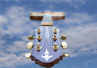 Guitar Head and Neck to the Sky