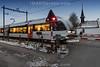 21.01.2017 - Bahnhof in Kaiserstuhl AG - Bahnübergang mit Halbschranken © Patrick Lüthy/IMAGOpress.com