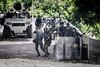 Venezuela - 28 de julio - la oposición venezolana llamo a una nueva jornada de protestas en contra del régimen de Nicolás Maduro y su llamado a una Constituyente, los manifestantes trancaron las vías y tomaron las calles mientras las fuerzas de seguridad del estado intentaron a lo largo de la tarde dispersar a los manifestantes en distintas zonas de la capital mediante el uso de gas lacrimógeno y perdigones. Protests in Caracas on July 28th against N. Maduro regime / Venezuela :  Ausschreitungen am 28. Juli 2017 in Caracas - Demonstranten der Opposition  kämpfen auf der Strasse gegen den Polizeieinsatz der Regierung Maduros  © Leo Álvarez/LATINPHOTO.org