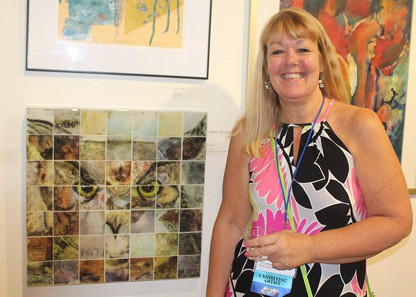 Jill Lindsey with her winning piece