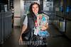 Argentina : Noviembre 23 , 2016 . Ciuda de Buenos Aires . Claudia Santoro es vendedora de la Revista Hecho en Buenos Aires, desde el ano 2003. Su recorrido es bajo tierra, sobre las lineas del Subte A / Argentinien : Zeitungsverkäuferin des Magazins HECHO © Kala Moreno Parra/LATINPHOTO.org