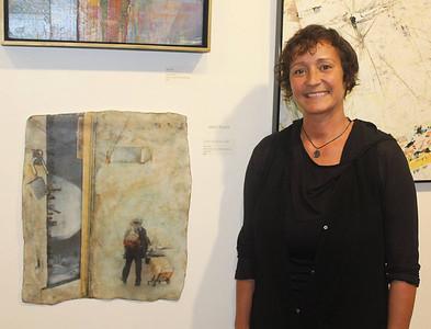 Aida Tejada with her winning piece