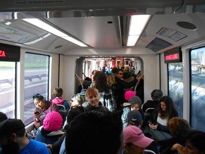 Women's March trolley ride