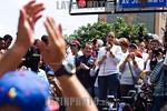 Venezuela : Mar�a Corina Machado , dirigente pol�tica de la oposici�n venezolana , da un discurso durante una manifestaci�n por los 100 d�as de protestas continuas en contra del gobiern ...