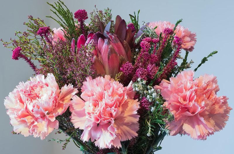 Easter Flower Bouquet with Carnations