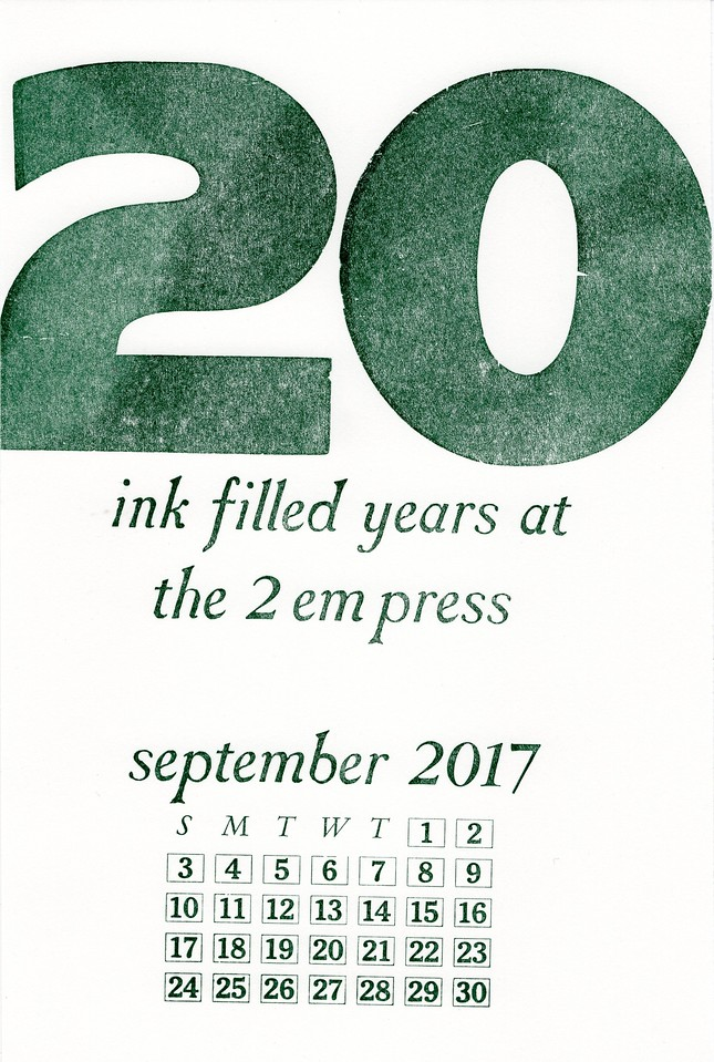 September, 2017,  The 2 EM Press