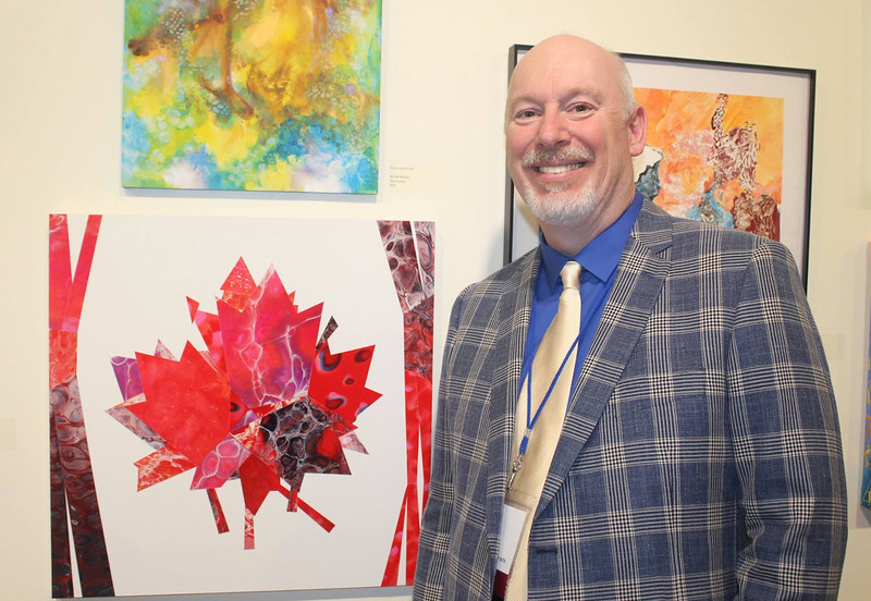 Rick Rogers with his winning piece