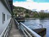 Aare mit Blick auf das Elektrizitätswerk Aarau und die Weinbergstrasse und Erlinsbacherstrasse in Aarau © Patrick Lüthy/IMAGOpress.com