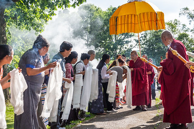 Arrival of His Eminence the 7th Kyabje Yongzin Ling Rinpoche