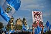 Guatemaltecos Protestan contra Presidente y Diputados.