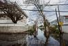 Puerto Rico : San Juan , PR. Floaded street in Punta Las Marias neighborhood shows the destruction of hurricane Maria on the island / Hurricane Maria slams Puerto Rico / Puerto Rico : Hurrikan Maria verwüstet Puerto Rico © Rob Zambrano/LATINPHOTO.org