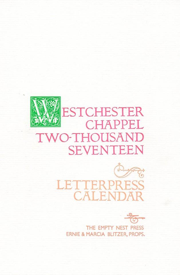 Cover, 2017, The Empty Nest Press