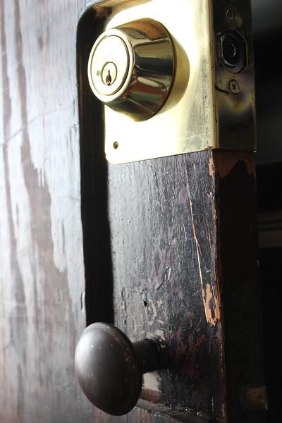 Burglar cracked a door we had reinforced 25 years ago.