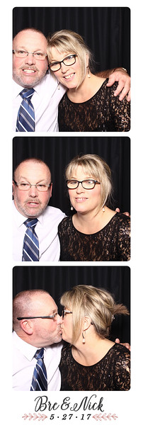 Photo strips from Bre & Nick's wedding day photo booth.