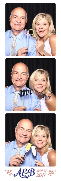Photo strips from Amy and Brandon's wedding day photo booth.