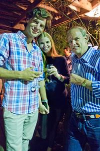 Alexander Elsen, left,  Jim Wickett, right - at Freddy Clarke birthday party