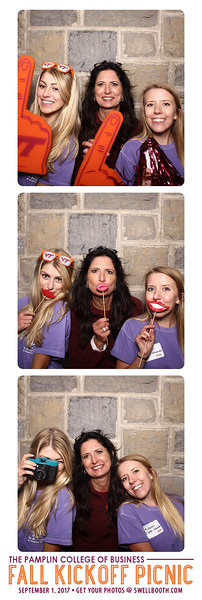 Photo booth for Pamplin's Fall Kickoff Picnic on Friday, September 1, 2017.