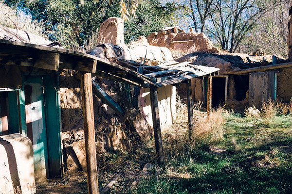 Collasping Adobe House