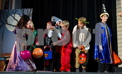 Robert Layman / Staff Photo  Children from Vermont Youth Theatre rehearse Boo!Thirteen Scenes from Halloween Wednesday October 5, 2017, which will show Oct. 6th at 7p.m. and 7th at 2 pm. and 7 p.m. at Rutland Intermediate School theatre.