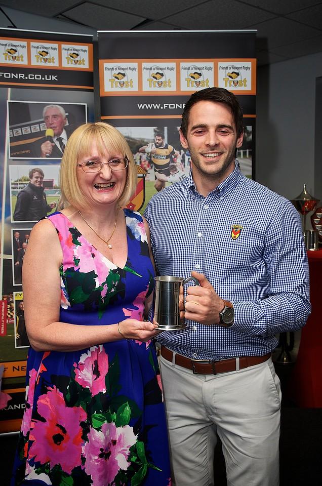 Nick Jackson Community Award - Elliot Frewen presented by Joy Jackson