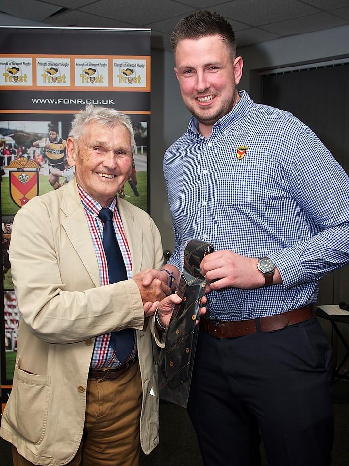 20 appearnces tie presented to Joe Bartlett From Brian BJ Jones