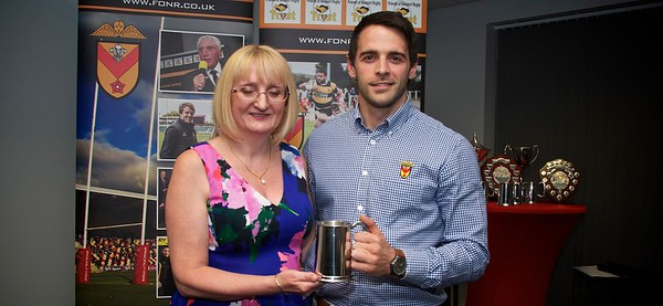 Nick Jackson Community Award - Elliot Frewen presented by Joy Jackson