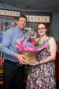 Volunteer presentation to Angela Sheppard by Mark Workman