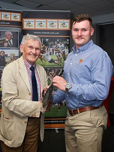 20 appearnces tie presented to Alex Everett From Brian BJ Jones