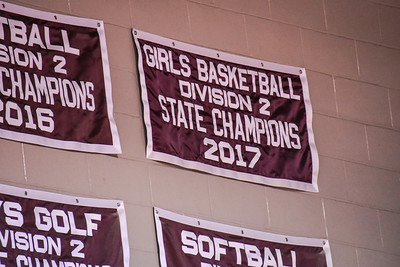 Girls Basketball Championship Banner Unveiling