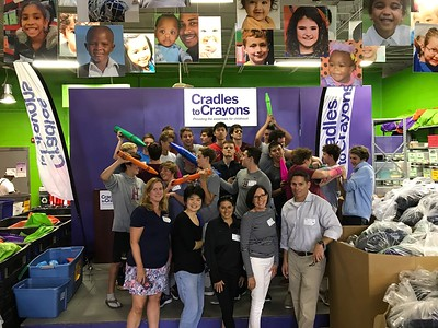 Water Polo Service Project: Cradles to Crayons