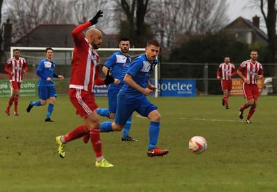 Felixstowe & Walton Utd v Wroxham in Thurlow Nunn Premier League