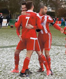 Fakenham vFelixstowe & Walton Utd inThurlow Nunn Premier League