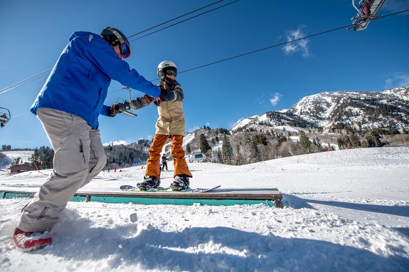 Snowbasin Marketing Shoot Feb 16th Snowboard Family RLT-0533
