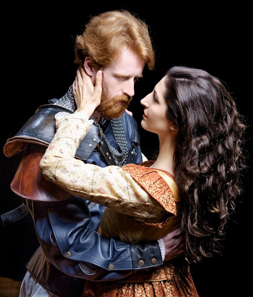 Calder Shilling as Macbeth and Ally Farzetta as Lady Macbeth in MACBETH. Photo by Michael Bailey.