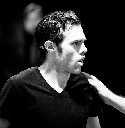 Josh Clark (Banquo) in rehearsal for MACBETH. Photo by Jay McClure.
