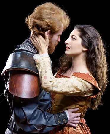 Calder Shilling as Macbeth and Ally Farzetta as Lady Macbeth in MACBETH. Photo by Michael Bailey.