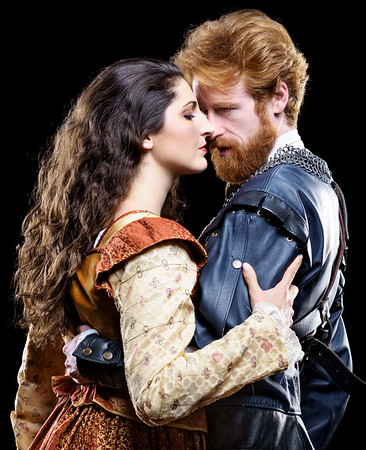 Ally Farzetta as Lady Macbeth and Calder Shilling as Macbeth in MACBETH. Photo by Michael Bailey.