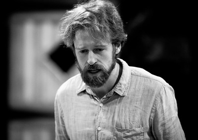 Calder Shilling (Macbeth) in rehearsal for MACBETH. Photo by Jay McClure.