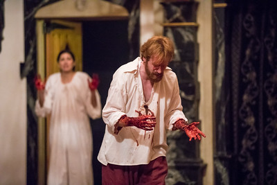 Ally Farzetta and Calder Shilling in MACBETH.  Photo by Tommy Thompson.