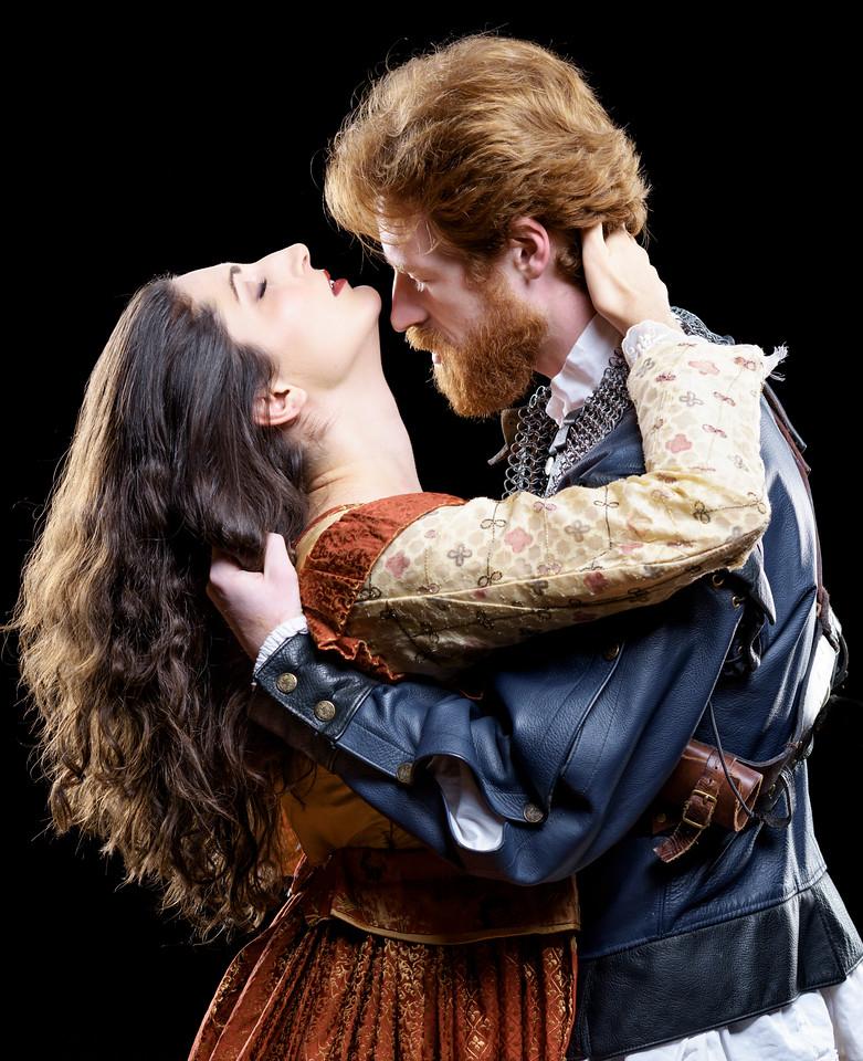 Ally Farzetta as Lady Macbeth and Calder Shilling as Macbeth in MACBETH. Photo by Michael Bailey.